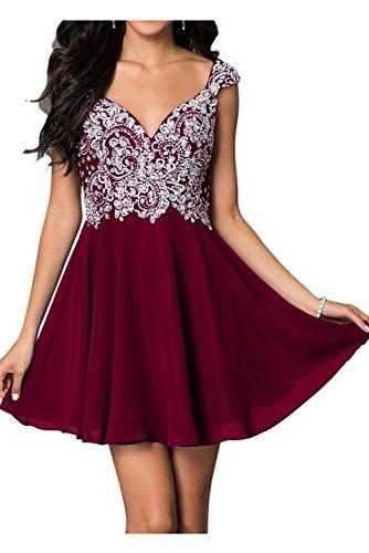 Toscana sposa lncantevole Chiffon stanotte vestimento per sposa giovane a lungo un'ampia Party ball vestimento rosso vivo