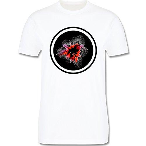Blumen & Pflanzen - Orchidee - Herren Premium T-Shirt Weiß