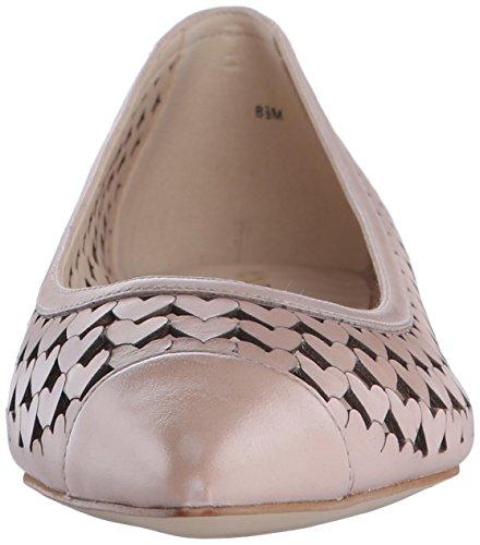 Nine West Ashling Leather Ballet Flat Light Natural Leather