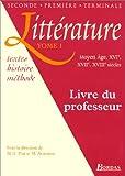 Littérature, tome 1 : Livre du professeur