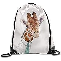 HLKPE Mr Giraffe Drawstring Backpack Rucksack Shoulder Bags Training Gym Sack For Man and Women