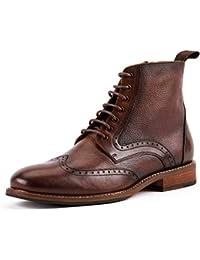 62b8068f46 Shoe house Derby de los Hombres Oxford Botas Perforada ala Punta Vestido  Casual Moda Botines Antideslizante