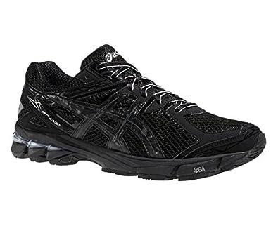 all black asics running shoes