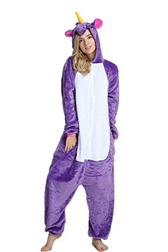 Mystery&Melody Tiere Pyjama Cosplay Kostüme Flanell Overalls Unisex Erwachsene Kinder Nachtwäsche Party Kostüme (L, Löwe) (Kind Löwe Pyjama Kostüme)