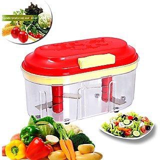 HONEST 2 Blade Vegetable Chopper Manual Food Processor (Multicolour)