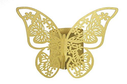 n-Ringe in Farbe gold aus Papier für ihren festlichen Anlass 12 Stück ()