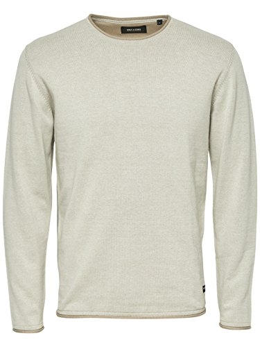 ONLY & SONS - Homme pullover garson naps crew neck knit Beige