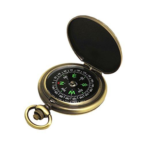 VORCOOL Vintage Antik Kompass Outdoor-Reisen Bergsteigen Camping Abenteuer Kompass, 1 Stück