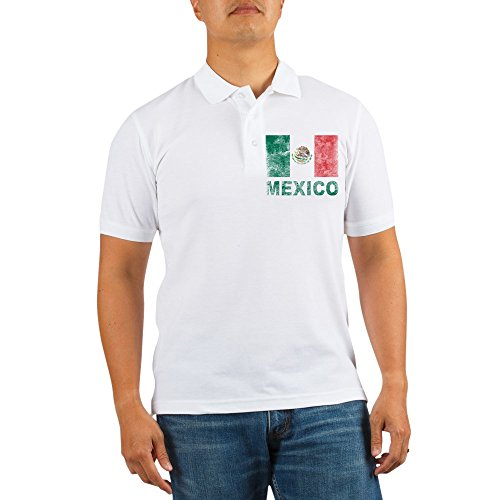 3ee0c6683 CafePress Vintage Mexico Golf Shirt - Golf Shirt, Pique Knit Golf Polo