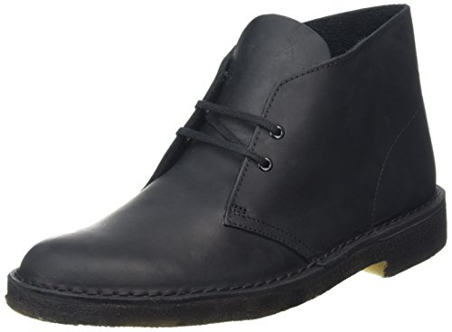 Clarks Originals Boot, Stivali Desert Boots Uomo, Nero (Schwarz Beeswax Leather), 43 EU