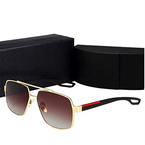 Yibaision Pilotenbrille Sonnenbrille für Herren und Damen UV400 Schutz Metall Rahmen Flieger Metallrahmen Verspiegelt Linse Sportbrillen(,D)