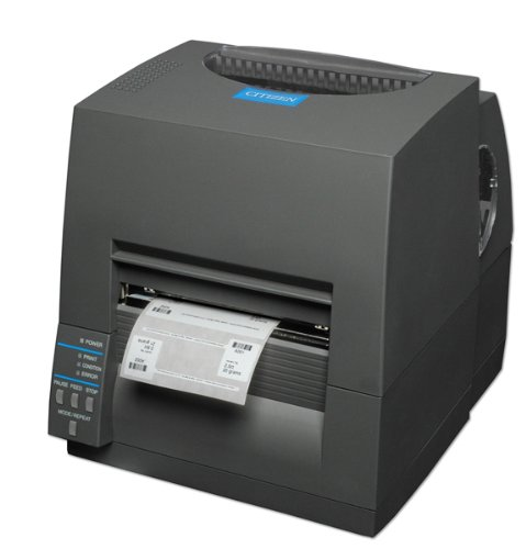 Citizen cl-s631–Etikettendrucker (300x 300DPI, 812,8mm, 104.1mm, Direct Thermal/Thermal Transfer, 150mm/Sek, ZPL) schwarz