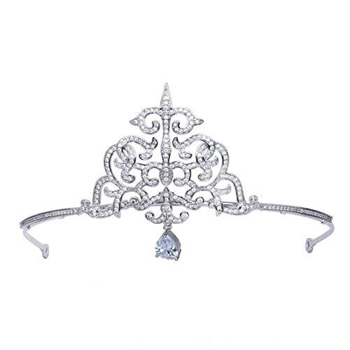 LINDANIG Krone Stirnband Braut Hochzeit Headwear Mikro-Intarsien Zirkon Krone Hochzeit Zubehör Stirnband (Color : ()