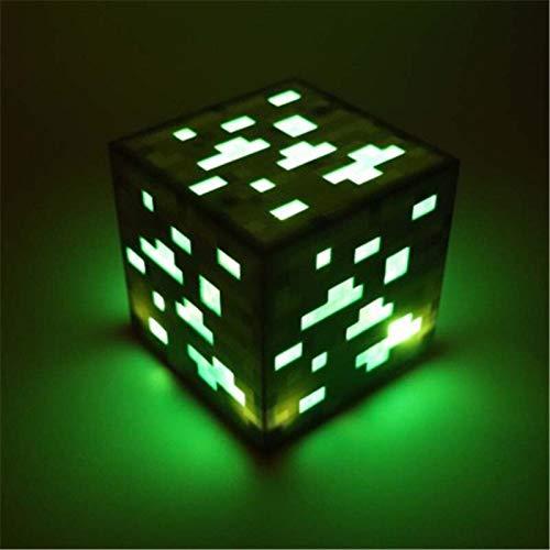 BEITAI Original Light Up Minecraft Fackel Lampe Hand oder Wandhalterung Beleuchtung Erz Blue Stone Diamond Square Nachtlichter Kinder Geschenk (Emitting Color : Red) -