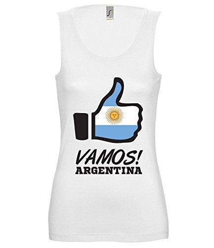 Artdiktat Damen Tank Top – Like WM 18 – Vamos Argentina – Russia Russland