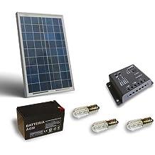 Kit Solar Votivo 20W Placa fotovoltaico Batería 7Ah 12V Controlador de carga