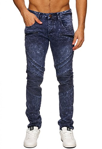 Hommes Pierre-Washed Sky Blue Jeans Denim clair Nr.1676 (W29 - W38) Grau-Blau