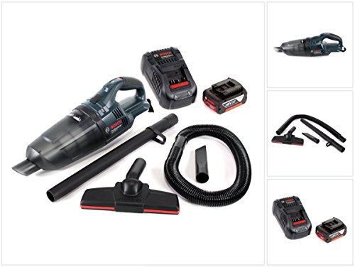 Bosch GAS 18 V Li-Ion Akku Staubsauger Hand Sauger + 1x GBA 18 V 3,0 Ah Einschub Akku + 1x GAL 1880 CV Schnellladegerät 14,4V - 18V