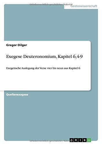 Exegese Deuteronomium, Kapitel 6,4-9 by Gregor Dilger (2011-05-30)