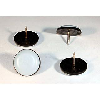 36 Stück Teflon-Möbelgleiter rund mit Nagel Ø 19 mm – 5 mm dick / PTFE-Beschichtung / Teflongleiter / Stuhlgleiter