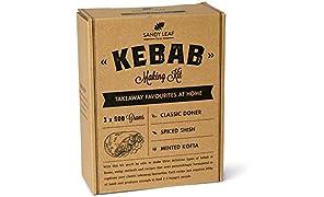 Kebab Making Kit - Make Your own Doner, Shish and Kofte Kebabs at Home