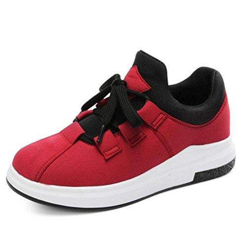 LDMB Frauen-Komfort-beiläufige Art und Weise dicke untere / wasserdichte Plattform laufende Schuhe 8607 red