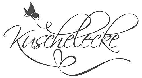 dekodino Wandtattoo Schlafzimmer Kuschelecke Liebe Bett Schmetterling Herz