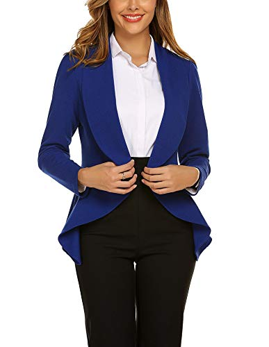 Unibelle Damen Blazer Cardigan Tailliert Elegant Casual Jacke Blazer Slim Fit Anzug Trenchcoat XL