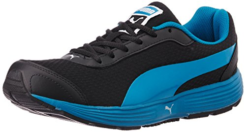 3. Puma Men's ReefFashionDP Black, Blue Jewel and White Running Shoes