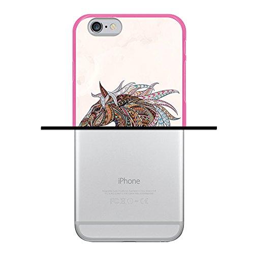iPhone 6 6S Hülle, WoowCase Handyhülle Silikon für [ iPhone 6 6S ] Coloriertes Graffiti Handytasche Handy Cover Case Schutzhülle Flexible TPU - Schwarz Housse Gel iPhone 6 6S Rosa D0291