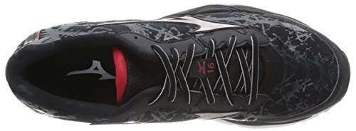 Mizuno Wave Creation 16 Scarpe sportive, Uomo, Black/Silver/Chinesered Black/Silver/Chinesered