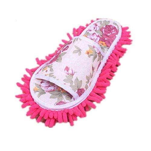 Yilianda Women Dust Mop Slippers Socks Microfiber House Slippers Bedroom Shoes -...