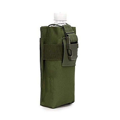 QJiang Wasserdichte Taktische Militärpolizei Jagd Walkie Talkie 600D Molle Radio Wasserkocher Tasche Wasserflasche Tasche Halter H2O Trinksystem Träger Taille Rucksack (Armee-grün)