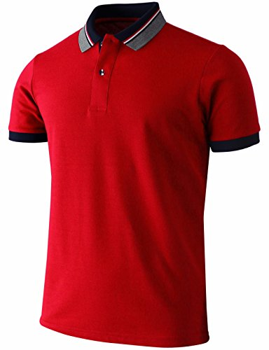 Bcpolo Herren Polo Shirt Kurzarm Dri Fit Casual Solid Performance Polo Shirt Navy