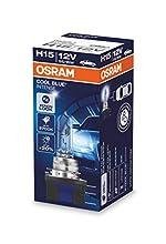 Osram Cool Blue Intense H15 Lampada alogena per i proiettori auto con vetro trasparente, 12 V, 1 pezzo