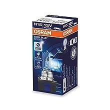 OSRAM COOL BLUE INTENSE H15, headlight bulb for halogen headlamps, xenon effect for white light, 64176CBI, 12 V passenger car, folding carton box (1 unit)