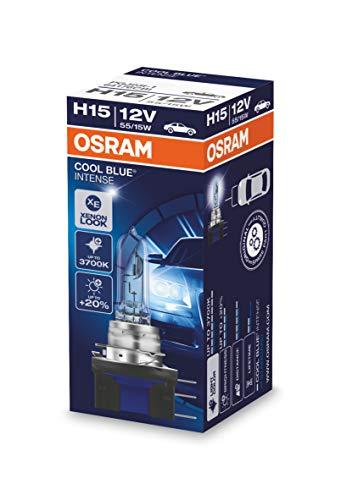 Osram Cool Blue Intense H15 Lampada alogena per proiettori auto, 12V, cartone (1 pezzo)