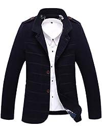 Vogstyle Hommes Pardessus Slim Fit Lapel Outwear le bouton d'homme Cotton Trench Coat Jacket