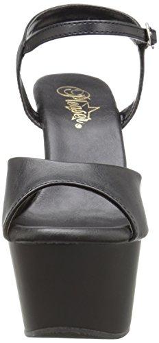 Pleaser aspire-609 - Blk Faux Leather/Blk Matte