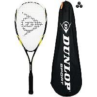 DUNLOP BIOTEC MAX Raqueta Para Squash De Titanio + 3 Pelotas De Squash