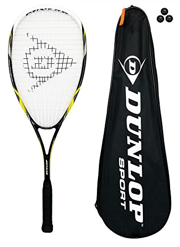 Dunlop NanoMax Pro Squash Racket + 3 Squash Balls RRP £195