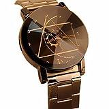 DOGZI Herren Armbanduhr, Uhren Sport Uhr Luxus Armbanduhren - Fashion Watch Edelstahl Frauen Quarz Analog Armbanduhr (Schwarz)