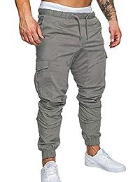 LiucheHD Uomo Pantaloni Cargo Pantaloni Tattici Militari Uomo 49959faef43