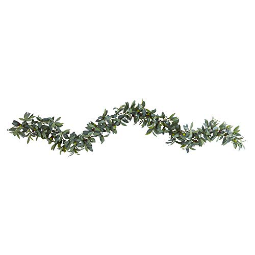 Nearly Natural 6.5\' Olive Artificial Garland Girlanden, Plastik, grün