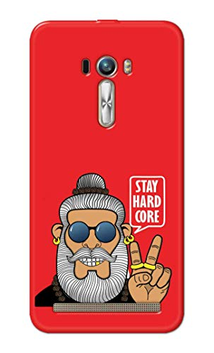 NH10 DESIGNS Hard Designer Printed Stay Hard core Funny Inspiring Quotes Back Cover/case for Asus Zenfone Selfie