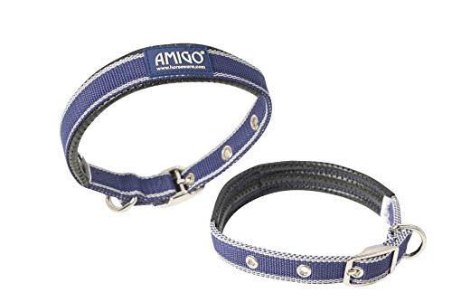 Horseware Amigo HUND Halsband Klein Atlantic Blue/Ivory