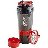 Botella agitadora, copa de coctelera suplementaria con compartimentos de almacenamiento de polvo de proteína