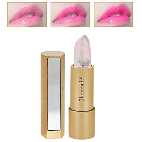 ESAILQ 3,8 g Magic Jelly Flower Lippenstift Farbe Temperatur ändern Feuchtigkeitscreme Bright Lip Balm