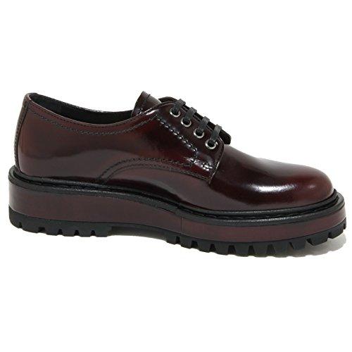 1813O scarpa allacciata CAR SHOE bordeaux scarpe donna shoes women Bordeaux