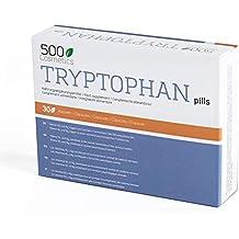 500Cosmetics Tryptophan - Cápsulas Naturales contra el Estrés y la Ansiedad - Mejora la Calidad del